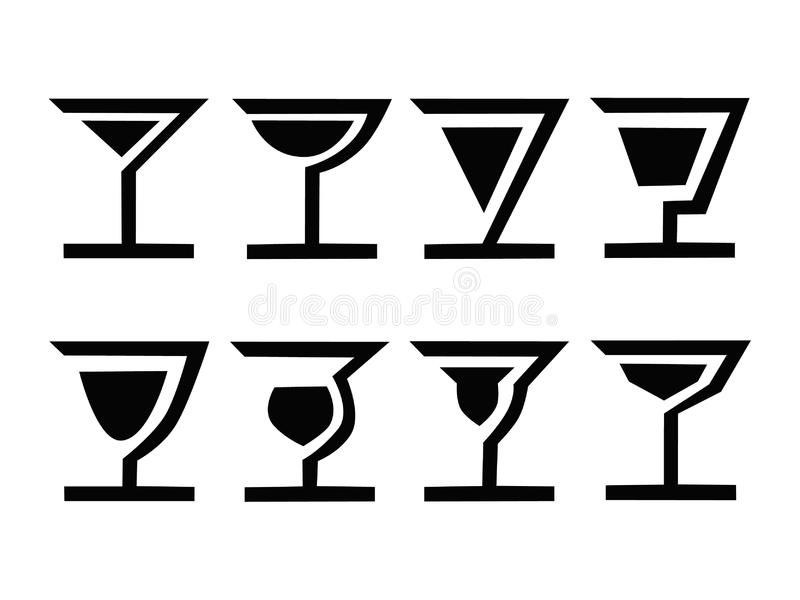 Download 8 cocktails-A stock vector. Image of advertise, basic - 8300921