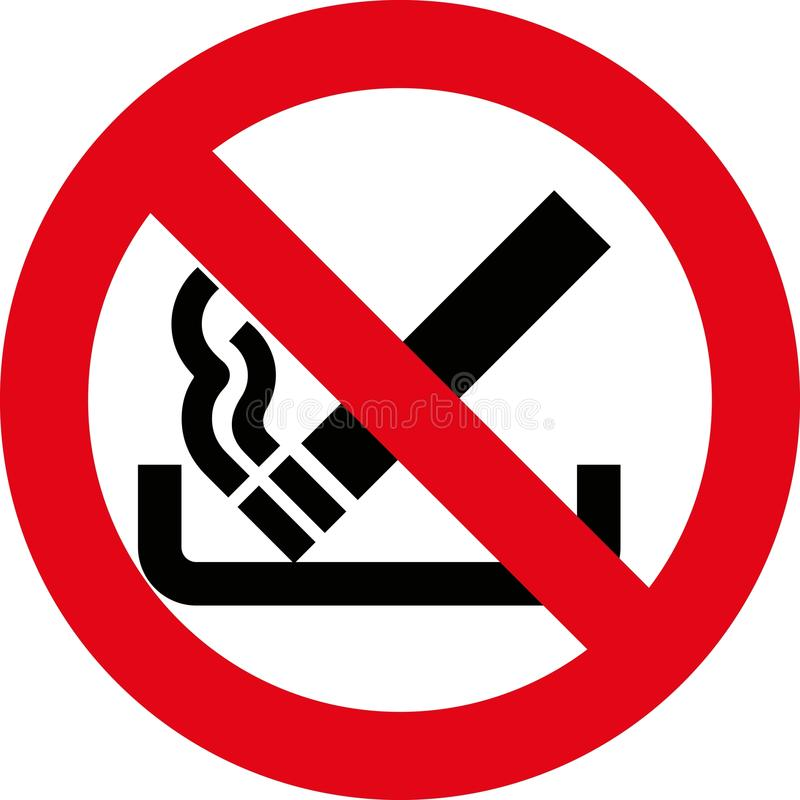 8 de no fumadores (+ vector) libre illustration