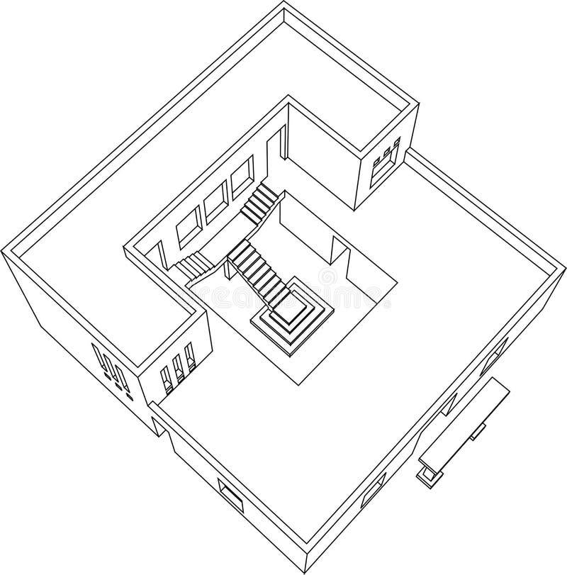 8 domowa perspektywa royalty ilustracja
