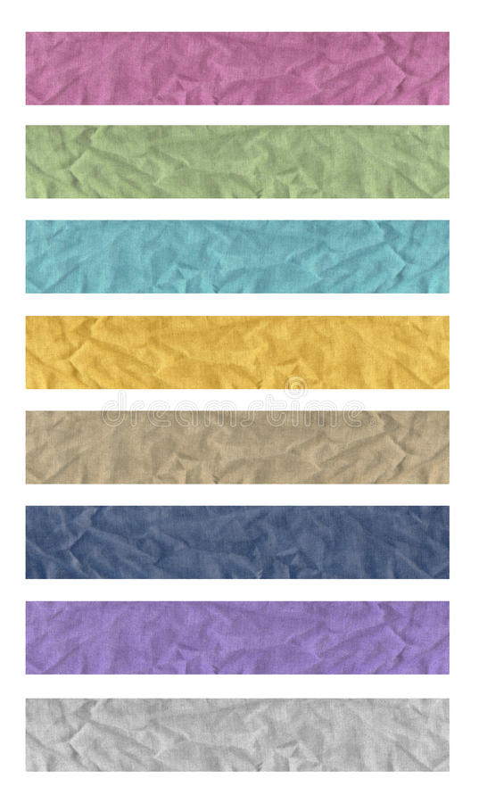 8 drapeaux de tissu photos libres de droits