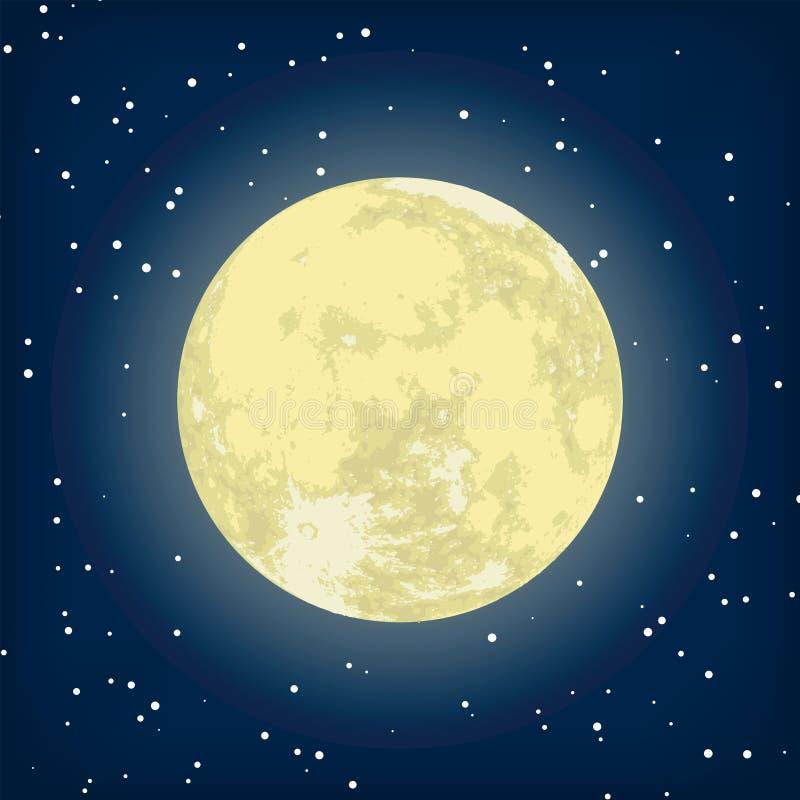 8 eps图象月亮晚上向量 库存例证