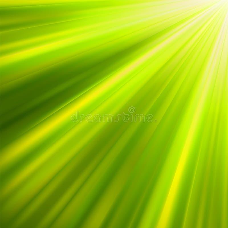 8 eps绿色光亮光芒 库存例证