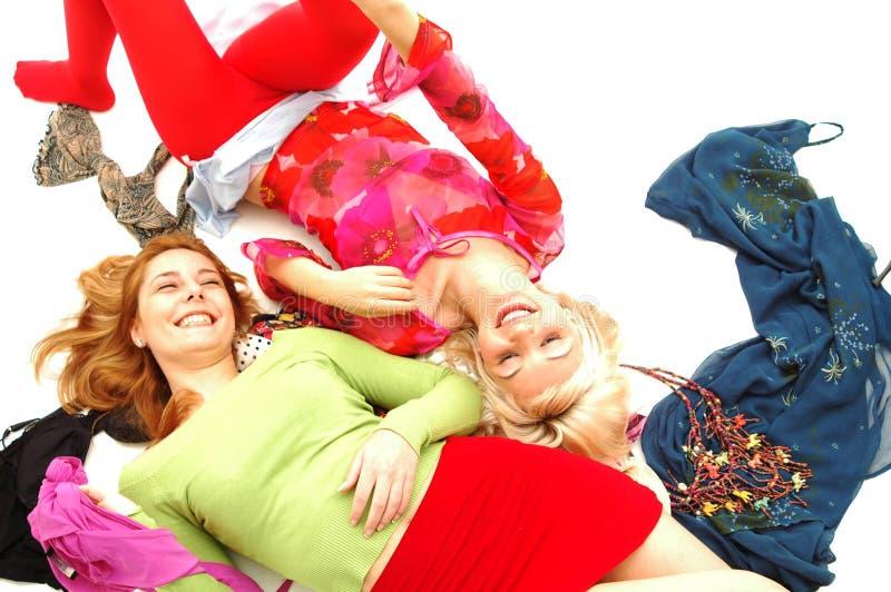 8 färgrika lyckliga tonåringar royaltyfri fotografi