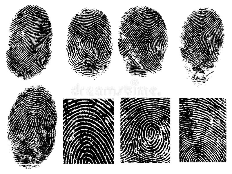 8 Fingerabdrücke stock abbildung