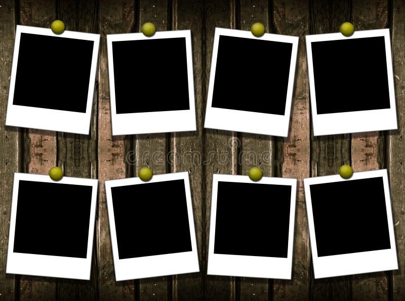 8 frames do polaroid ilustração royalty free