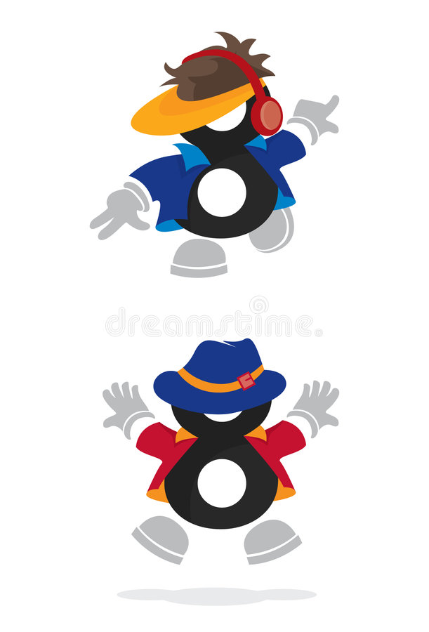 8 ikon liczba ilustracja wektor