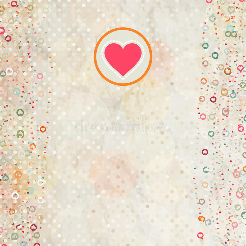 8 karciany eps placeholder valentine royalty ilustracja