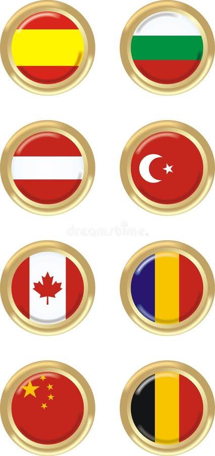8 krajów ilustracji