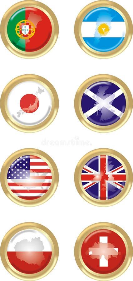 8 krajów ilustracja wektor
