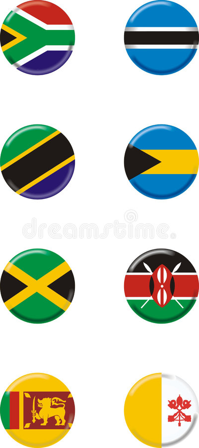 8 krajów royalty ilustracja