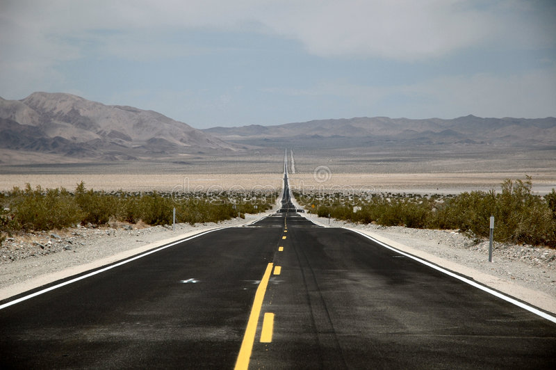 8 mile road into the distance royalty free stock images