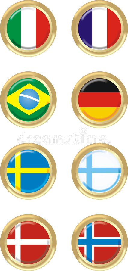 8 países ilustração stock