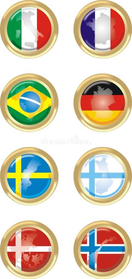 8 paesi illustrazione vettoriale