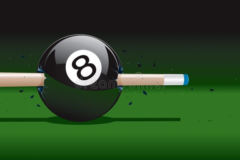 8 piłka łamająca ilustracja wektor