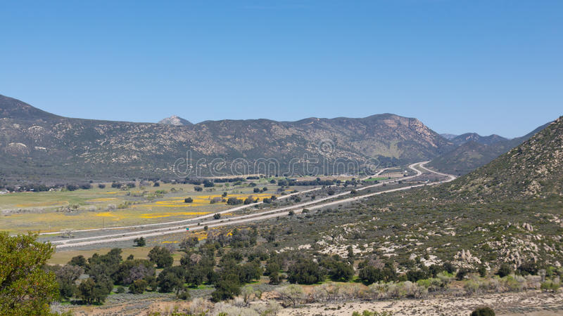 8 południowi California międzystanowych zdjęcie stock