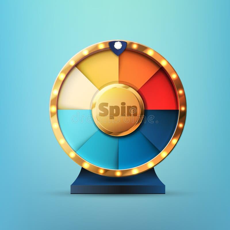 Free 8 Slots Spin Wheel Game Stock Image - 142936871