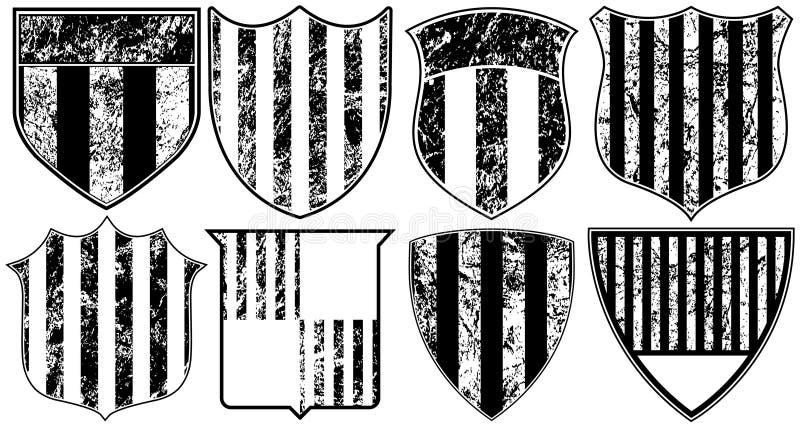 8 striped экранов grunge иллюстрация вектора