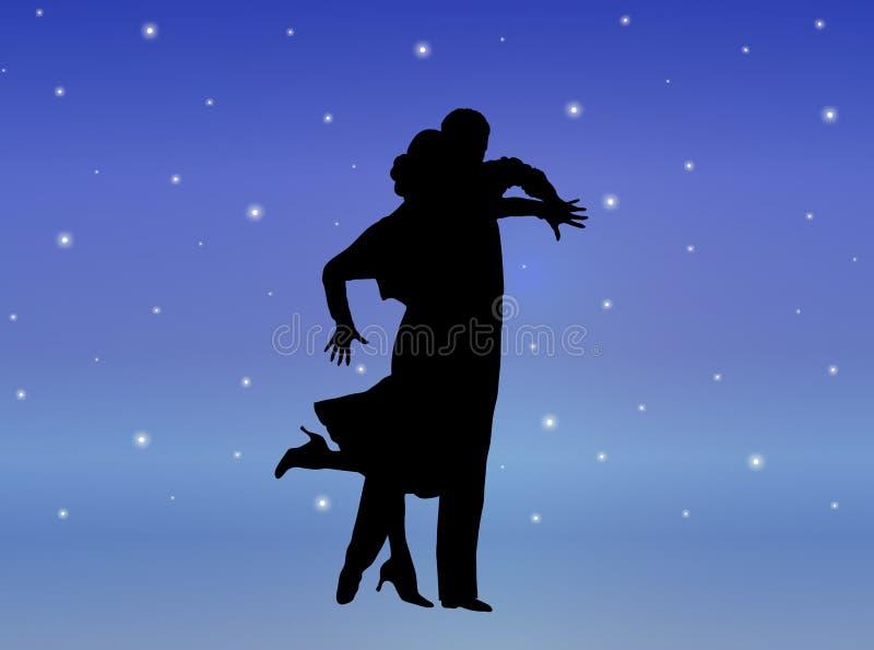 8 tańczącego starlight royalty ilustracja