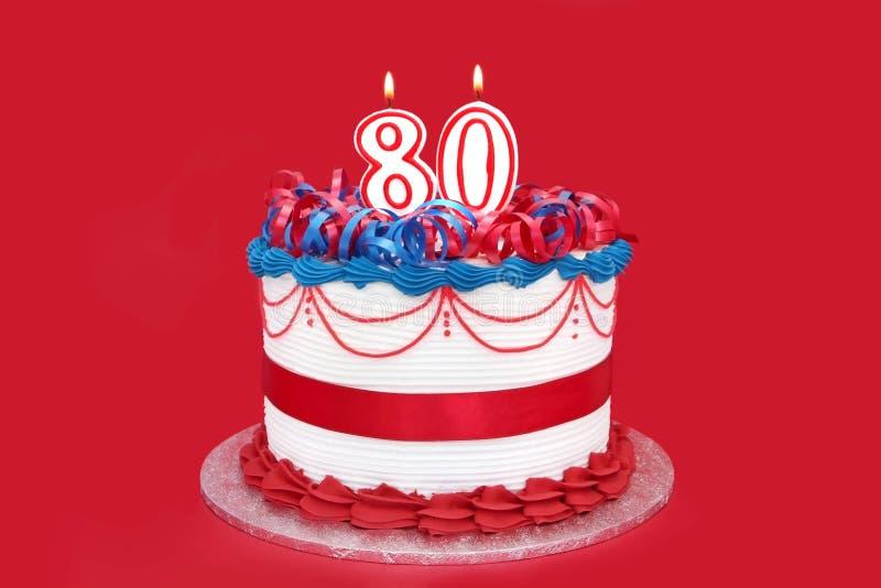 80ο κέικ στοκ εικόνες
