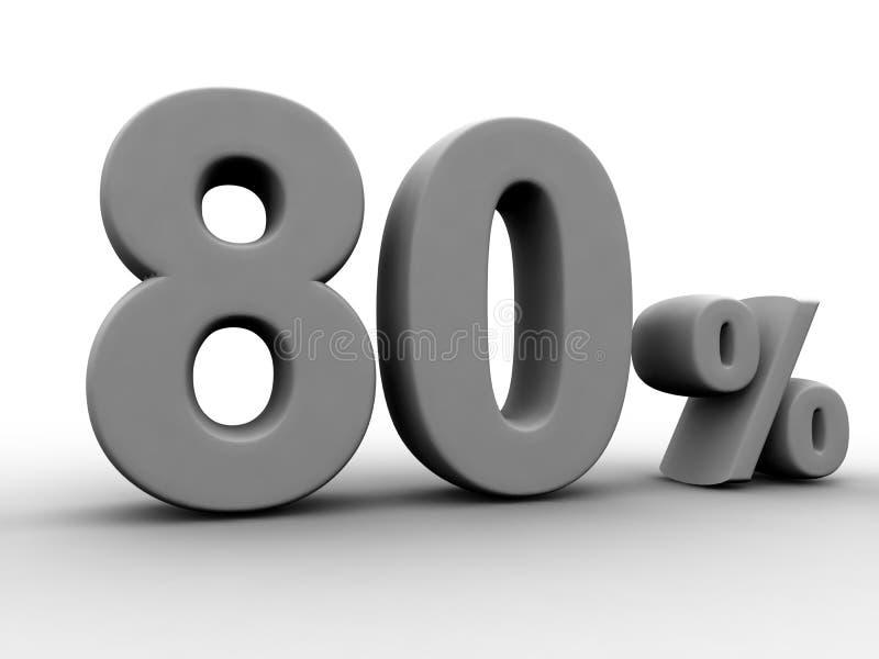 80 τοις εκατό διανυσματική απεικόνιση