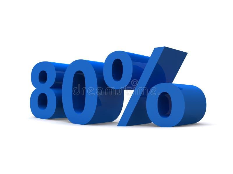 80% vector illustration