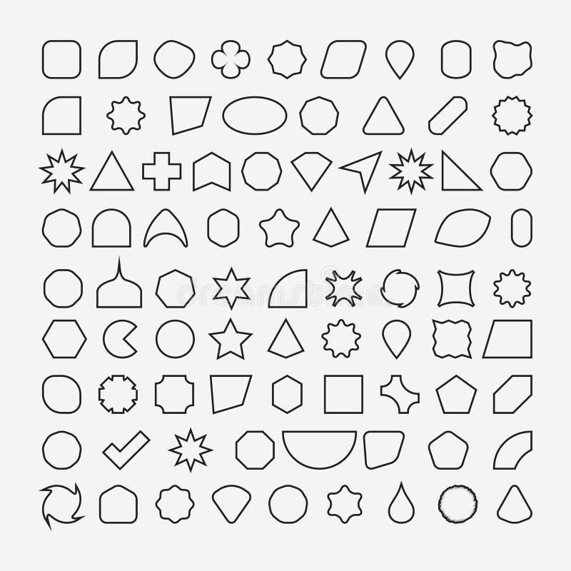 Free 80 Basic Shapes Outline Eps 10 Stock Photos - 174369753