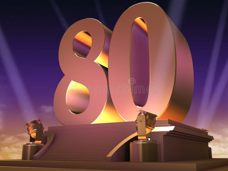 80 dorati - stile della pellicola royalty illustrazione gratis