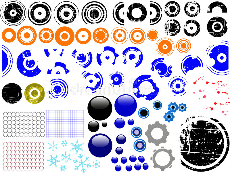 80 elementos de Grunge libre illustration