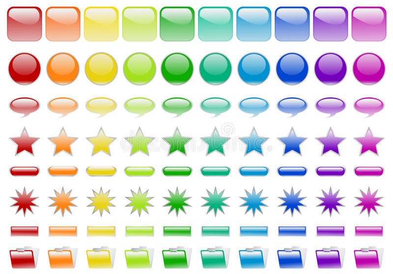 80 Glossy buttons stock illustration