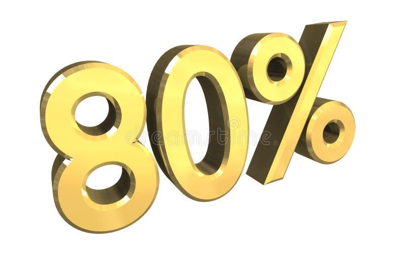 80 per cento in oro (3D) royalty illustrazione gratis
