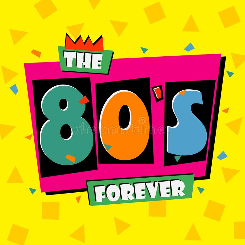Free 80`s Forever. The Eighties Style Banner. Retro Background. Vector. Royalty Free Stock Photos - 110645668