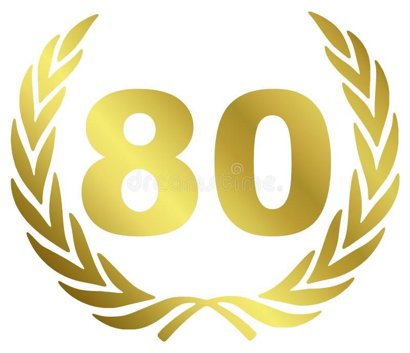 80 verjaardag stock illustratie