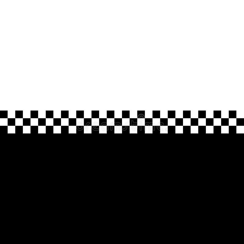 80s棋盘ska 向量例证
