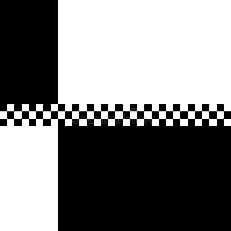 80s Ska 2 Tone Checkerboard. 80s retro '2 Tone' checkerboard design with plenty of copyspace royalty free illustration