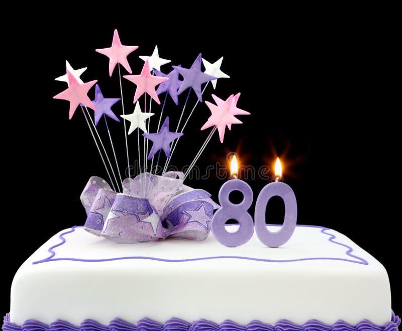 80th торт стоковая фотография