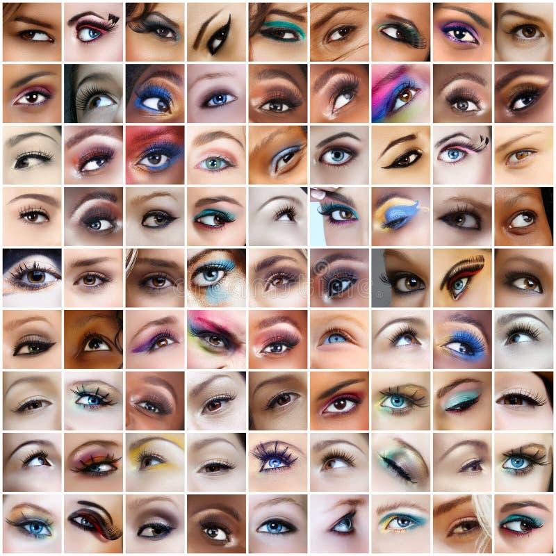 81 εικόνες ματιών στοκ εικόνα με δικαίωμα ελεύθερης χρήσης