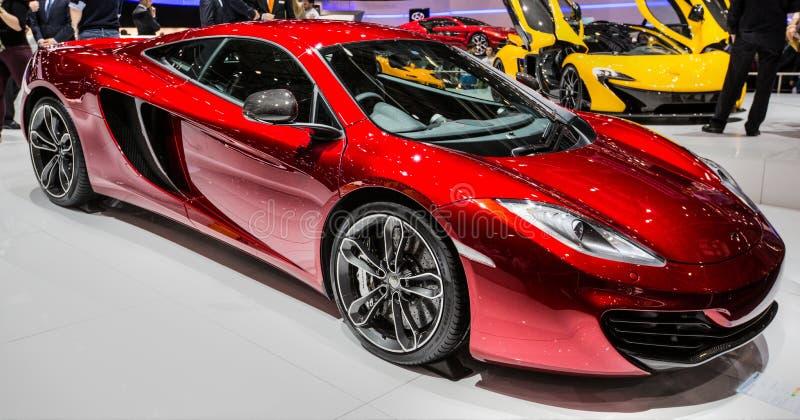 83rd Genebra Motorshow 2013 - McLaren P1 fotografia de stock royalty free