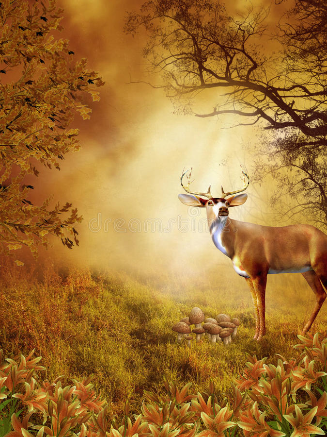 87 fantazj sceneria royalty ilustracja