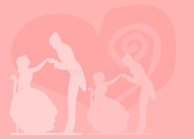 87 mój valentine byli royalty ilustracja