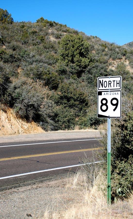 89亚利桑那高速公路我们 免版税库存照片