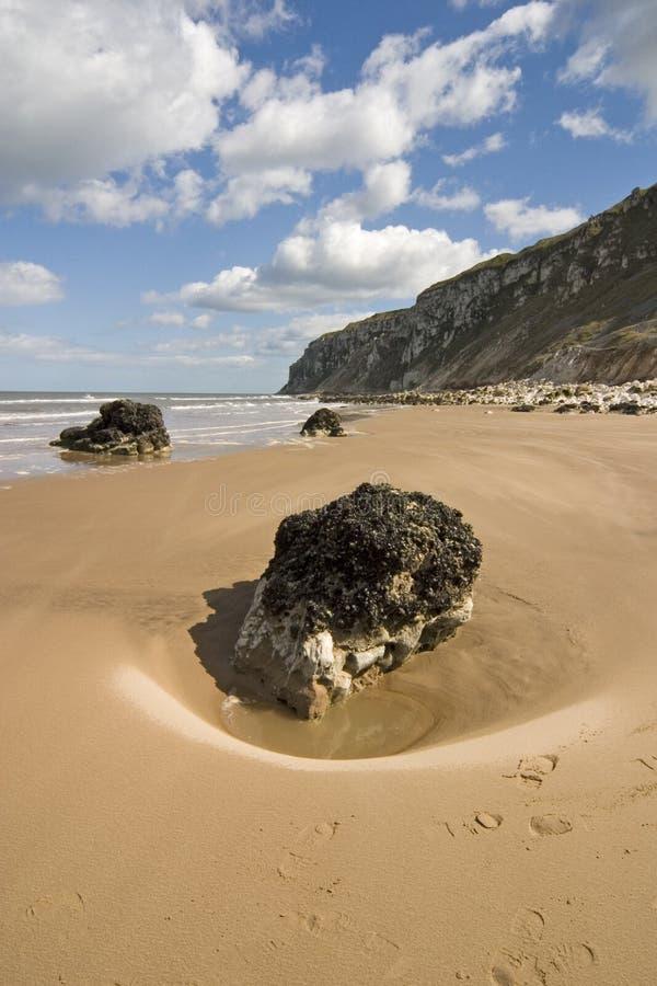8996, bahía cerca de Flamborough, costa del este de Yorkshire, abril de Speeton fotos de archivo libres de regalías