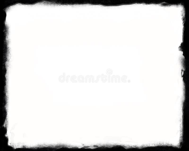 8x10 Unikalna Czarny I Biały granica ilustracja wektor