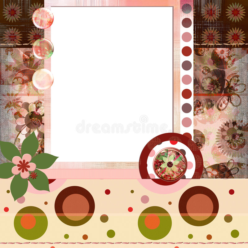 8x8 Βοημίας ύφος λευκώματος αποκομμάτων σελίδων σχεδιαγράμματος ιντσών τσιγγάνων λευκωμάτων διανυσματική απεικόνιση