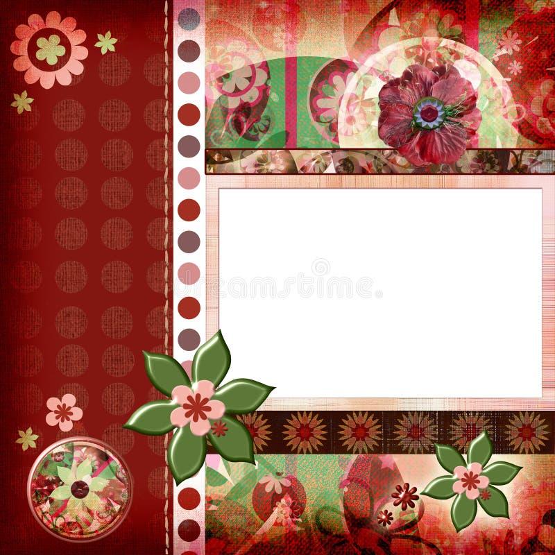 8x8 Βοημίας ύφος λευκώματος αποκομμάτων σελίδων σχεδιαγράμματος ιντσών τσιγγάνων λευκωμάτων ελεύθερη απεικόνιση δικαιώματος