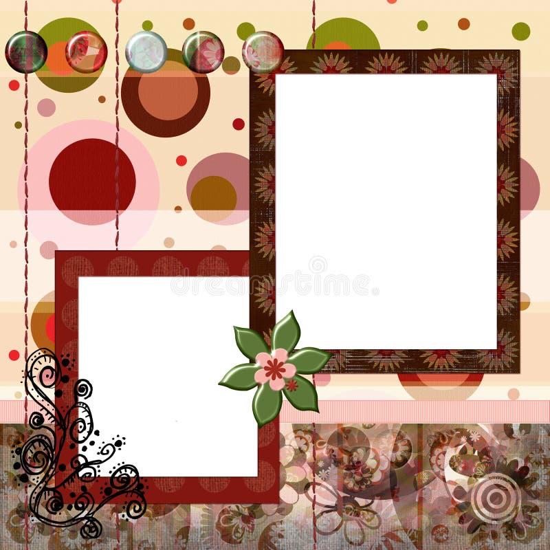 8x8 Βοημίας ύφος λευκώματο&s διανυσματική απεικόνιση