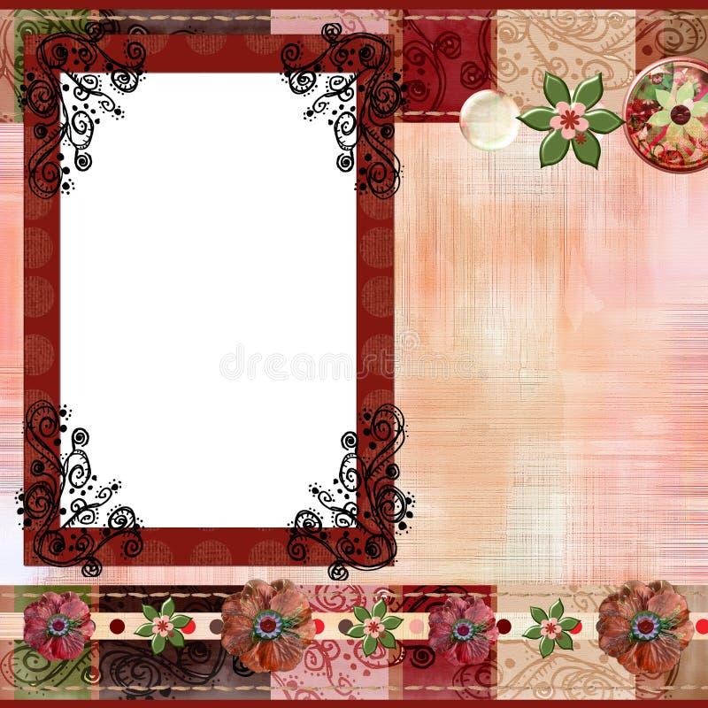 8x8 cali cyganów układu stron artystyczny album albumowy styl royalty ilustracja
