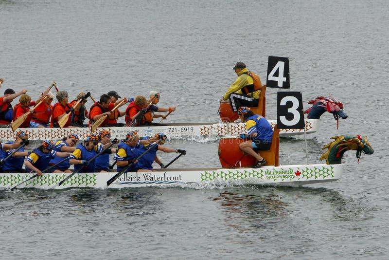 9ème Regatta annuel de bateau de dragon de Fest de gorge images libres de droits