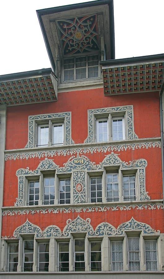 9个房子老瑞士 免版税库存图片