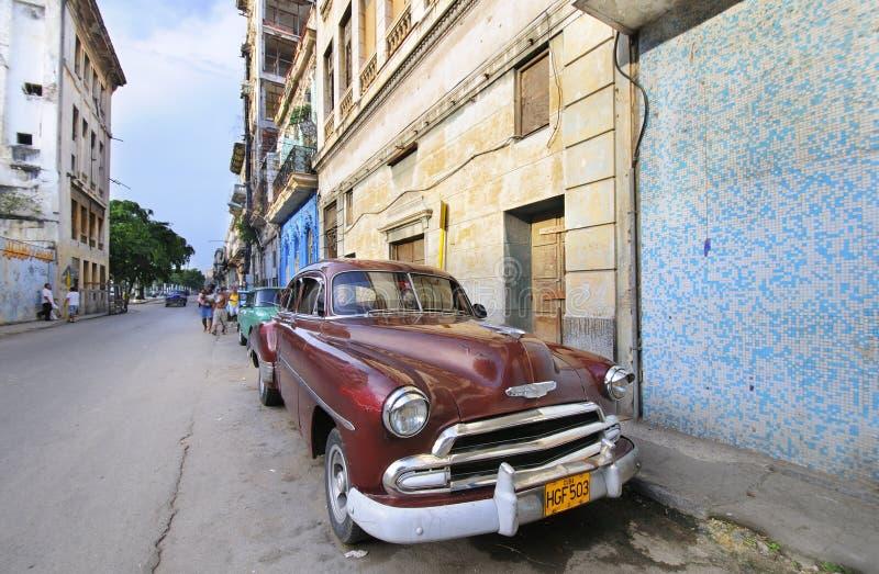 9个美国人汽车经典哈瓦那7月葡萄酒 免版税库存图片
