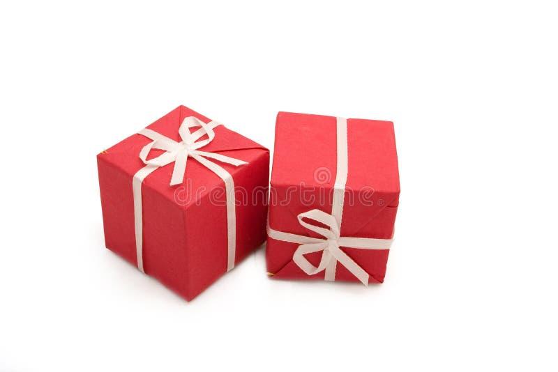 9个配件箱礼品 免版税库存图片